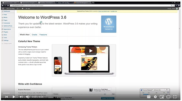 How to Go Back a version with WordPress